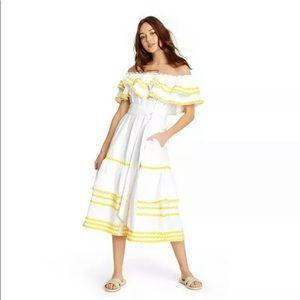 Lisa Marie Fernandez ruffled summer dress Boho S